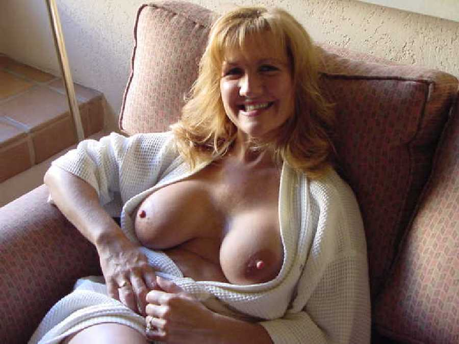 With mature naked boobs